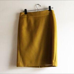 J. Crew Knee Length Wool Pencil Skirt